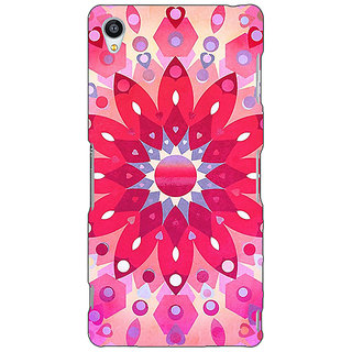 Jugaaduu Red Flower Pattern Back Cover Case For Sony Xperia Z3 - J260256