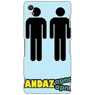 Jugaaduu Bollywood Superstar Andaz Apna Apna Back Cover Case For Sony Xperia Z3 - J261080