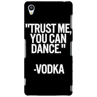 Jugaaduu Vodka Dance Quote Back Cover Case For Sony Xperia Z3 - J261287