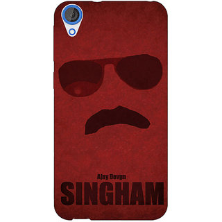 Jugaaduu Bollywood Superstar Singham Back Cover Case For HTC Desire 820 - J281126