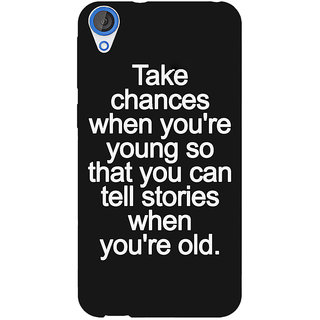 Jugaaduu Quote Back Cover Case For HTC Desire 820 - J281476
