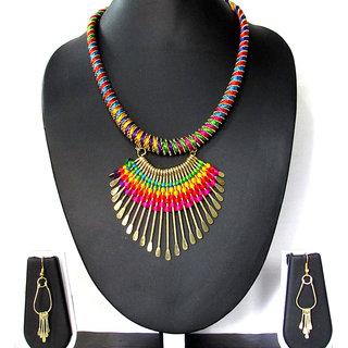 Golden Fancy Multicolour necklace set