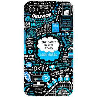 Jugaaduu TFIOS Fancy  Back Cover Case For Apple iPhone 4 - J10109