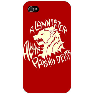 Jugaaduu Game Of Thrones GOT House Stark  Back Cover Case For Apple iPhone 4 - J10123