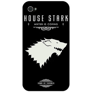 Jugaaduu Game Of Thrones GOT House Stark  Back Cover Case For Apple iPhone 4 - J10132