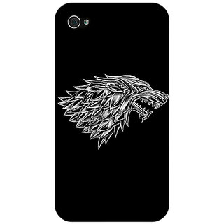 Jugaaduu Game Of Thrones GOT House Stark  Back Cover Case For Apple iPhone 4 - J10136