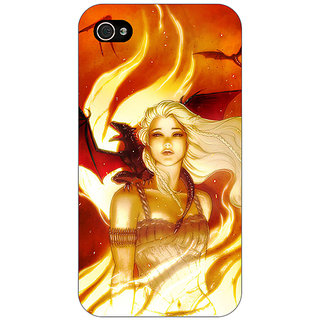 Jugaaduu Game Of Thrones GOT House Targaryen  Back Cover Case For Apple iPhone 4 - J10146