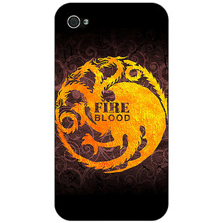 Jugaaduu Game Of Thrones GOT House Targaryen  Back Cover Case For Apple iPhone 4 - J10149