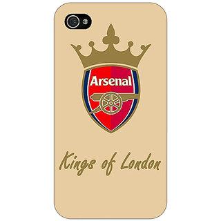 Jugaaduu Arsenal Back Cover Case For Apple iPhone 4 - J10503
