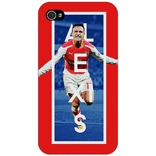 Jugaaduu Arsenal Alexis Sanchez Back Cover Case For Apple iPhone 4 - J10506