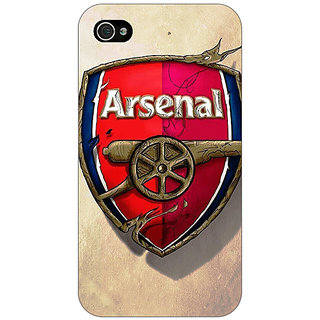 Jugaaduu Arsenal Back Cover Case For Apple iPhone 4 - J10515