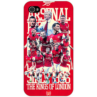 Jugaaduu Arsenal Back Cover Case For Apple iPhone 4 - J10518
