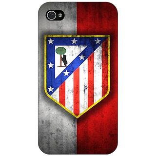 Jugaaduu Athletico Madrid Back Cover Case For Apple iPhone 4 - J10521