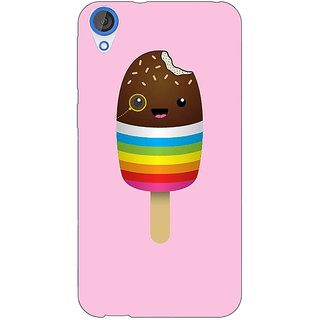 Jugaaduu Rainbow Icecream Back Cover Case For HTC Desire 820 - J281146