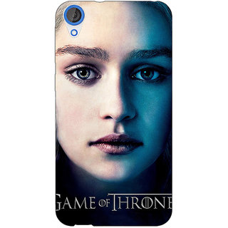 Jugaaduu Game Of Thrones GOT Khaleesi Daenerys Targaryen Back Cover Case For HTC Desire 820 - J281544