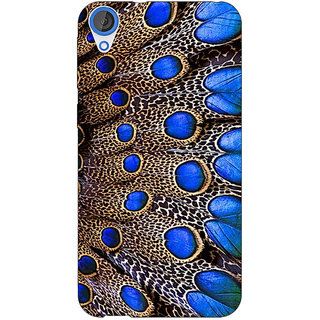 Jugaaduu Paisley Beautiful Peacock Back Cover Case For HTC Desire 820 - J281577