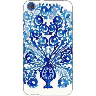 Jugaaduu Paisley Beautiful Peacock Back Cover Case For HTC Desire 820 - J281579