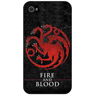 Jugaaduu Game Of Thrones GOT House Targaryen  Back Cover Case For Apple iPhone 4 - J10200