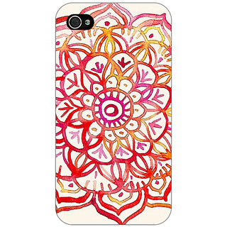Jugaaduu Flower Floral Pattern Back Cover Case For Apple iPhone 4 - J10204