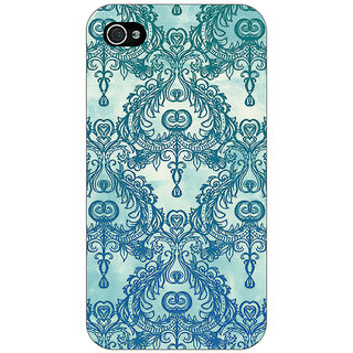 Jugaaduu Vintage Pattern Back Cover Case For Apple iPhone 4 - J10223
