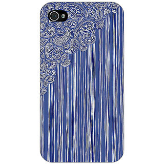 Jugaaduu Beauty Curtains Pattern Back Cover Case For Apple iPhone 4 - J10239