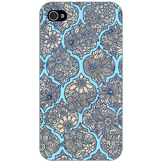 Jugaaduu Sky Morroccan Pattern Back Cover Case For Apple iPhone 4 - J10244