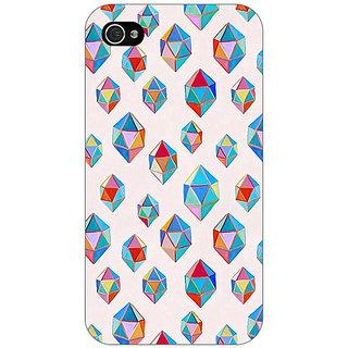 Jugaaduu Diamonds of Dreams Pattern Back Cover Case For Apple iPhone 4 - J10251