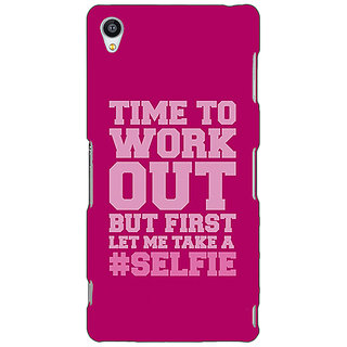 Jugaaduu Selfie Quote Back Cover Case For Sony Xperia Z3 - J261498