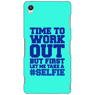 Jugaaduu Selfie Quote Back Cover Case For Sony Xperia Z3 - J261500