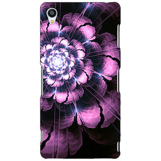 Jugaaduu Abstract Flower Pattern Back Cover Case For Sony Xperia Z3 - J261502