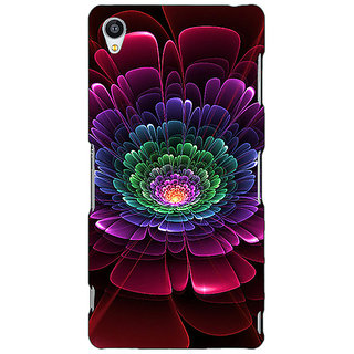 Jugaaduu Abstract Flower Pattern Back Cover Case For Sony Xperia Z3 - J261504