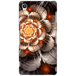 Jugaaduu Abstract Flower Pattern Back Cover Case For Sony Xperia Z3 - J261507