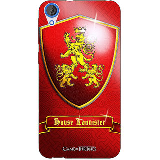 Jugaaduu Game Of Thrones GOT House Lannister  Back Cover Case For HTC Desire 820 - J280164