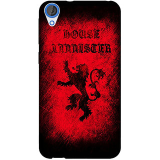 Jugaaduu Game Of Thrones GOT House Lannister  Back Cover Case For HTC Desire 820 - J280166
