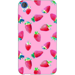 Jugaaduu Strawberry Pattern Back Cover Case For HTC Desire 820 - J280203