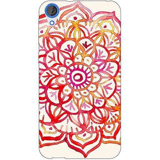Jugaaduu Flower Floral Pattern Back Cover Case For HTC Desire 820 - J280204