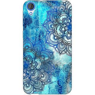 Jugaaduu Blue Floral Doodle Pattern Back Cover Case For HTC Desire 820 - J280211