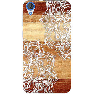 Jugaaduu White Brown Doodle Pattern Back Cover Case For HTC Desire 820 - J280212
