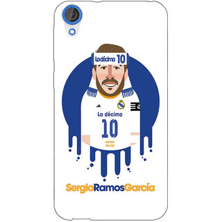 Jugaaduu Real Madrid Sergio Ramos Back Cover Case For HTC Desire 820 - J280587