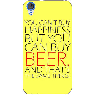 Jugaaduu Beer Quote Back Cover Case For HTC Desire 820 - J281231