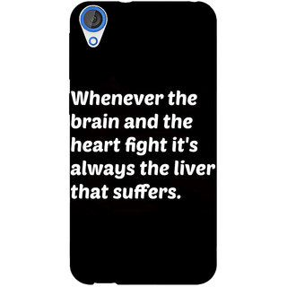 Jugaaduu Beer Quote Back Cover Case For HTC Desire 820 - J281239