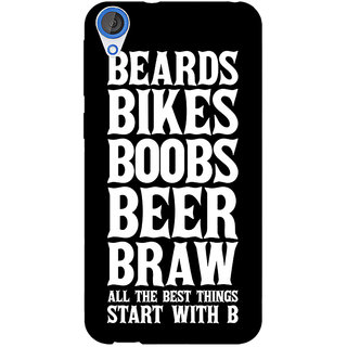 Jugaaduu Beer Quote Back Cover Case For HTC Desire 820 - J281243