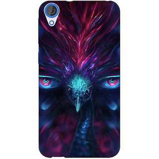 Jugaaduu Paisley Beautiful Peacock Back Cover Case For HTC Desire 820 - J281594
