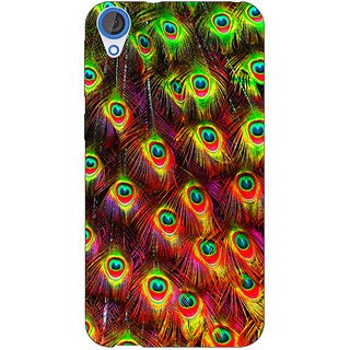 Jugaaduu Paisley Beautiful Peacock Back Cover Case For HTC Desire 820 - J281598