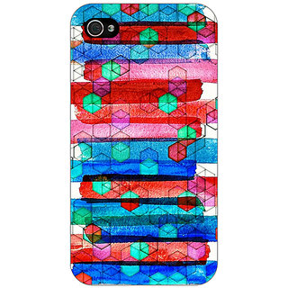Jugaaduu Colourful Winter Pattern Back Cover Case For Apple iPhone 4 - J10279