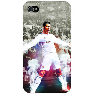 Jugaaduu Cristiano Ronaldo Real Madrid Back Cover Case For Apple iPhone 4 - J10305