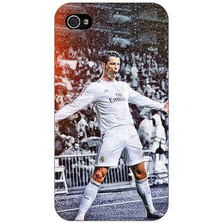 Jugaaduu Cristiano Ronaldo Real Madrid Back Cover Case For Apple iPhone 4 - J10306