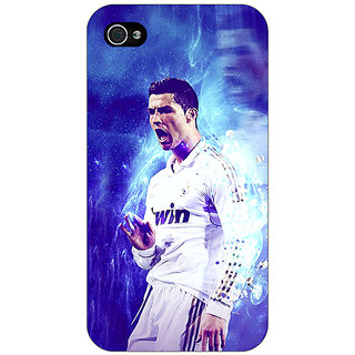 Jugaaduu Cristiano Ronaldo Real Madrid Back Cover Case For Apple iPhone 4 - J10308