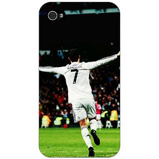 Jugaaduu Cristiano Ronaldo Real Madrid Back Cover Case For Apple iPhone 4 - J10311