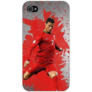 Jugaaduu Cristiano Ronaldo Portugal Back Cover Case For Apple iPhone 4 - J10318